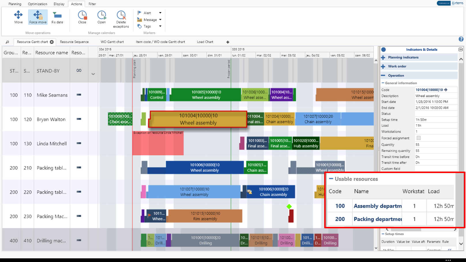 graphical planning for Microsoft Dynamics NAV