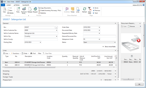 Document Sending and Document Receiving Enhancements