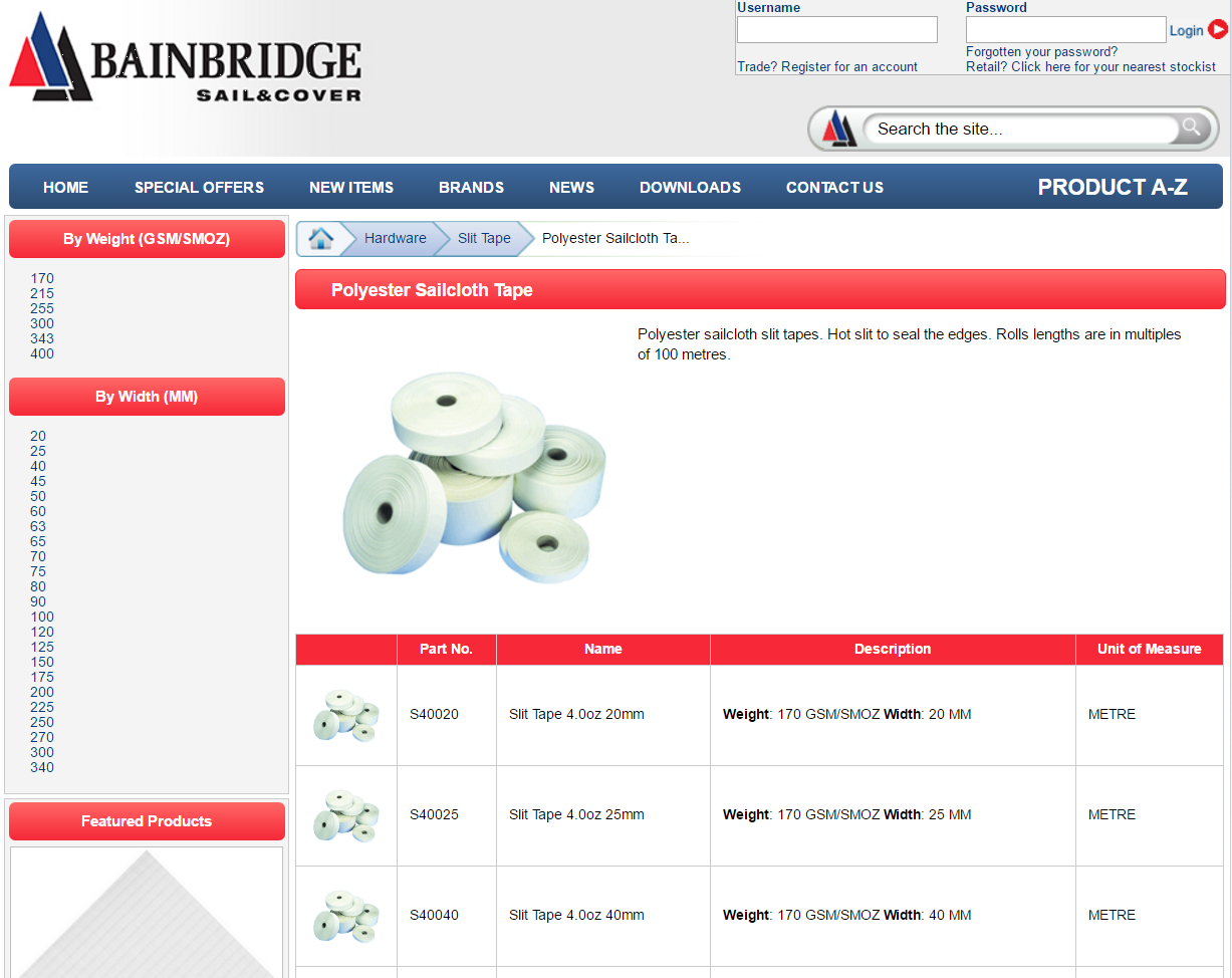 Bainbridge international B2B e-commerce webstore with back office integration