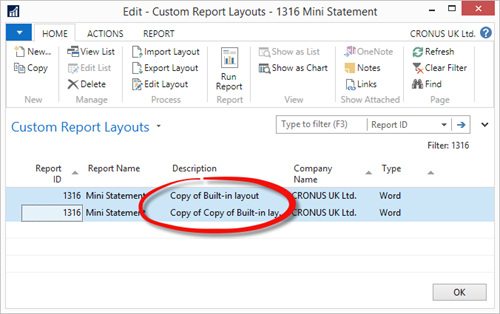 Word Forms - Custom Report Layouts