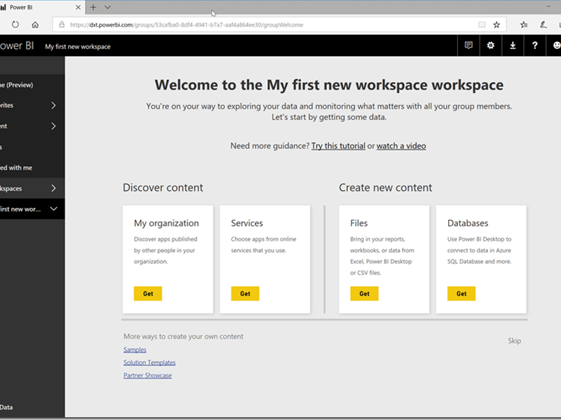 Power BI: New Workspace Experiences (In-Preview)